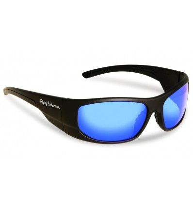 § CAP HORN MATTE BLACK SMOKE-BLUE MIRROR - PRIX NET