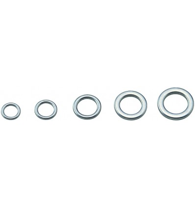 ANNEAUX SOLID RING COMPLETS # 4MM - 80 LBS POCHX9