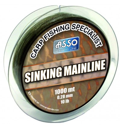ASSO MAINLINE SINKING Ø0,30 BROWN X1000ML