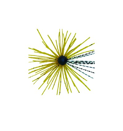 TETE PLOMBEE TUNGSTEN + JUPE SILICONE 3Gr,-OLIVE SILVER
