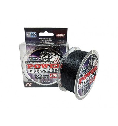 ASSO 8X PE Ø0,28mm ,BLACK, 23,4Kg X 300M